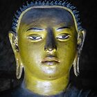 Buddha statue inside Maha Raja Viharaya or the Temple of the Great King (Cave No.2) by Inez Wijker