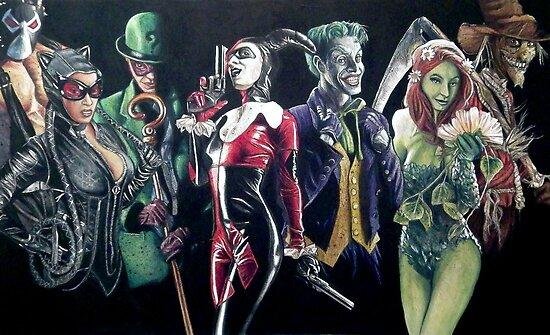 Batman Rogues by Brent Schreiber