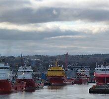 Aberdeen Harbour by Jennifer J Watson