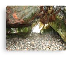 The Coloured Rocks Tiree Canvas Print