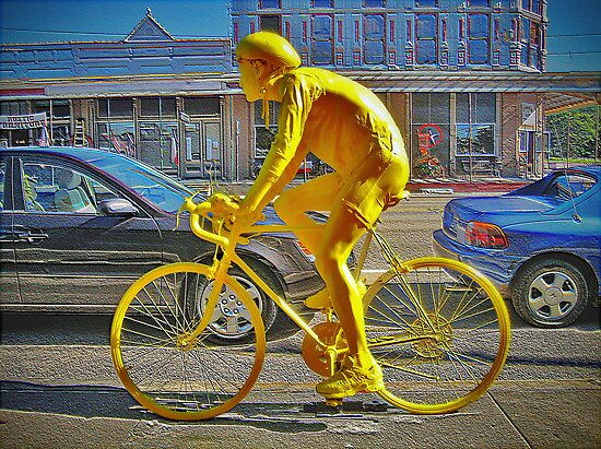 Yellow Bicycle Man by venny