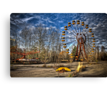 Prypiat/Chernobyl Abandoned Ferris Wheel Canvas Print