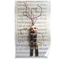 WIRED for SOUND - art assemblage mixed media sculpture Poster
