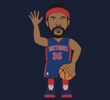 NBAToon of Rasheed Wallace, player of Detroit Pistons by D4RK0