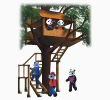 Panda Bear Tree House by jkartlife