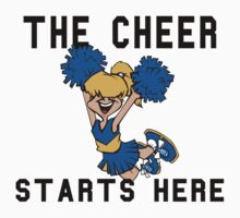 "Cheerleading ""The Cheer Starts Here"" Kids Clothes"