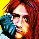 Kurt Cobain - Ultra Color Version by Shawna Rowe