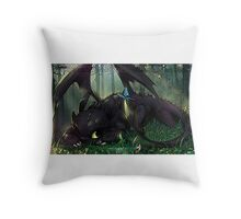 Toothless Mosaic Throw Pillow
