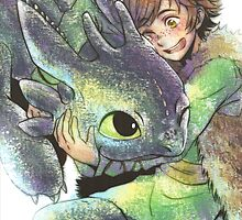 How to train your dragon 'Hug' by Geckoface