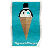 Peppermint Penguin Poster