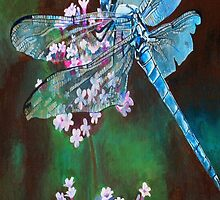 Blue Dragonfly Portrait by taiche