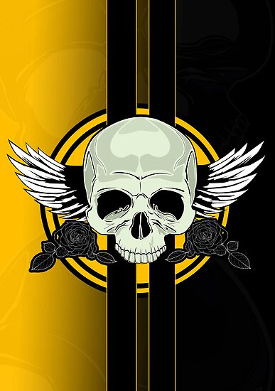 Wing Skull - YELLOW by Adamzworld
