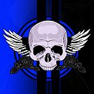Wing Skull - BLUE by Adamzworld