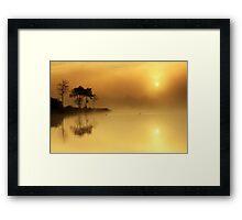 Loch Ard morning glow Framed Print