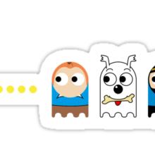 Pacman Tintin Sticker