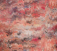 marbled paper - featherlets by dennis william gaylor