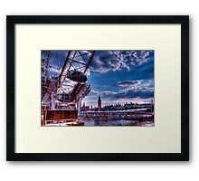 Wheel and Clock Framed Print