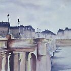 Pont St Esprit in the morning - Bayonne - by Corinne Pouzet