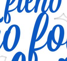 Luta - Azul Sticker
