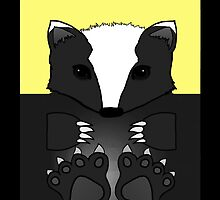 Yellow Badger iPhone and iPad Case by timeofdawn
