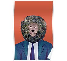 Mr. Lion's portrait Poster