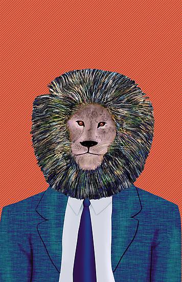 Mr. Lion's portrait by rainbowflowers