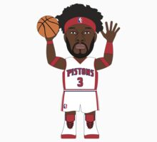 NBAToon of Ben Wallace, player of Detroit Pistons by D4RK0