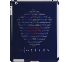 The Legend of Zelda Shield Poem iPad Case/Skin