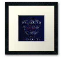 The Legend of Zelda Shield Poem Framed Print