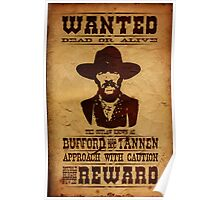 """Wanted Bufford """"Mad Dog"""" Tannen Poster"""