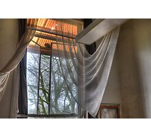 sheer curtains Photographic Print