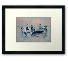 Off New Brighton Shore - 1890 Framed Print