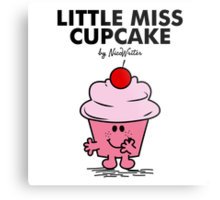 Little Miss Cupcake Metal Print