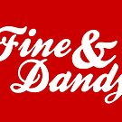 Fine & Dandy Red White Card by M  Bianchi