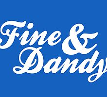 Fine & Dandy Blue White Card by M  Bianchi