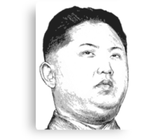 Kim Jong Un Canvas Print