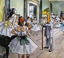Art Giraffe- The Dance Class by Sundayink