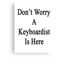 Don't Worry A Keyboardist Is Here Canvas Print