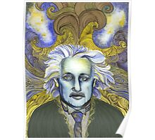Portrait of Einstein  Poster