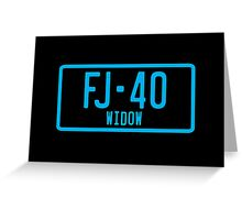 FJ40 Widow Logo Blue Greeting Card