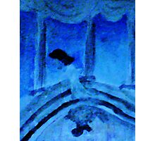 Lady slipping out at night  to her lover , watercolor Photographic Print