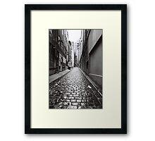 City Lane, Melbourne Framed Print