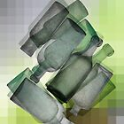 Multi bottles abstract by Glenn Launerts