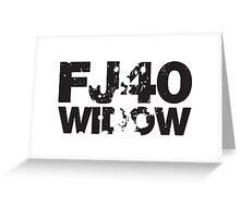 Fj40 Widow Bold Splat Greeting Card