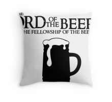 Lord of the Beers - Fellowship of the Beer Throw Pillow