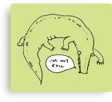 Crocodiles Aren't Evil Canvas Print