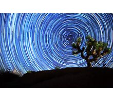 Stunning Circular Star Trails Above Joshua Tree Desert Photographic Print