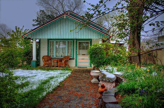 Cottage Garden In The Spring  by Diana Graves Photography