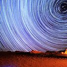 Incredible Galaxy Star Trails Over Death Valley by Gavin Heffernan