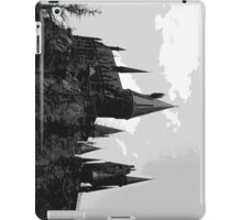 Grey-scale Hogwarts iPad Case/Skin